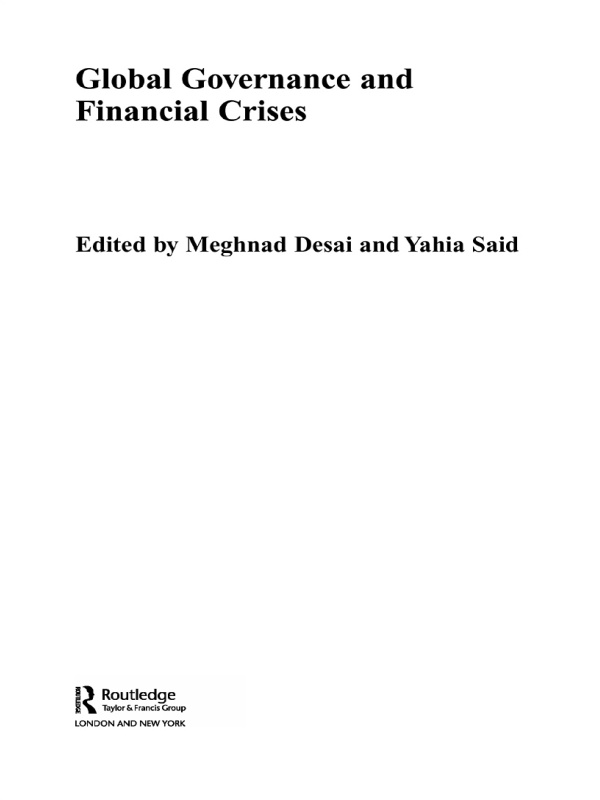 FINANCIAL CRISES AND GLOBAL GOVERNANCE