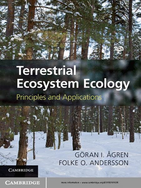 Terrestrial Ecosystem Ecology Principles and Applications