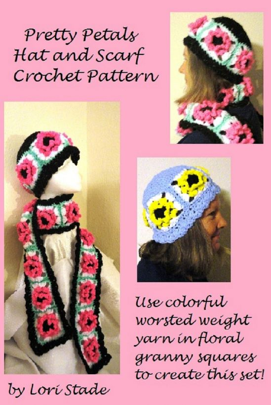Pretty Petals Hat & Scarf Crochet Pattern