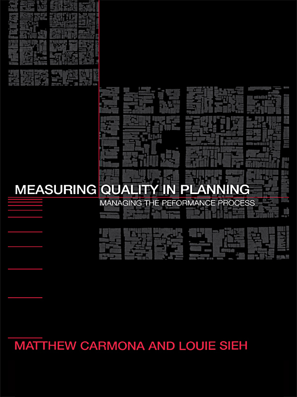 Measuring Quality in Planning Managing the Performance Process