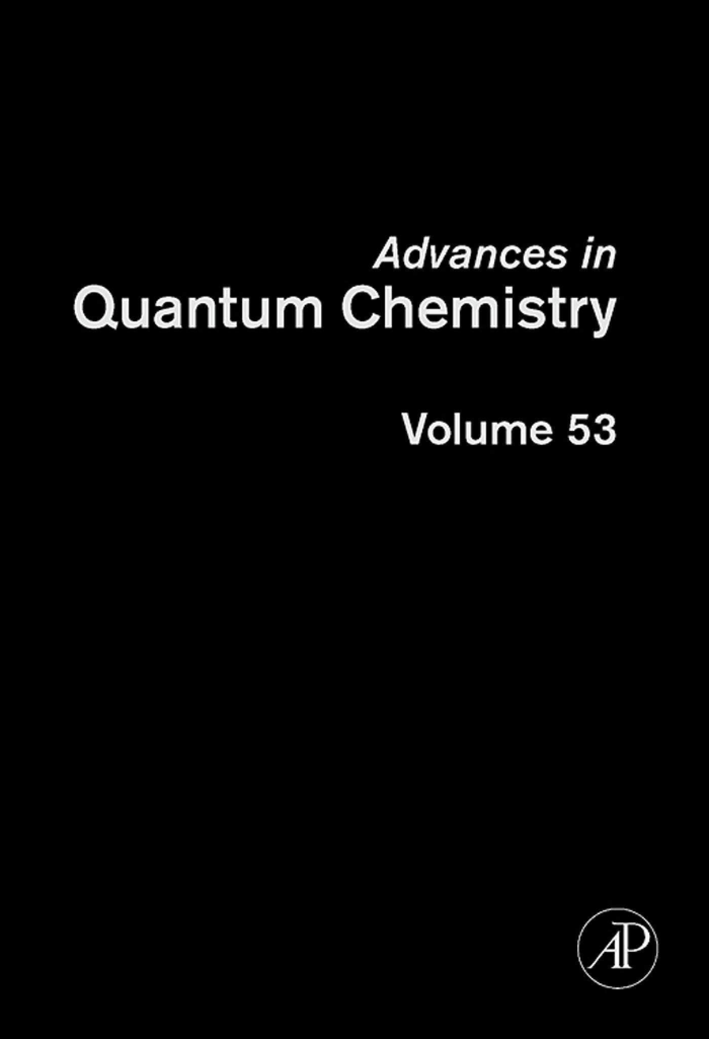 Advances in Quantum Chemistry: Current Trends in Atomic Physics