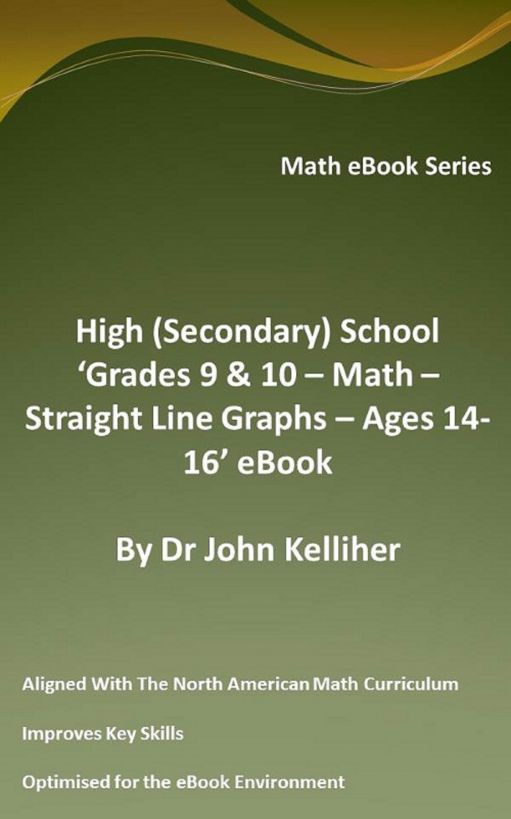 High (Secondary School) 'Grades 9 & 10 - Math – Straight Line Graphs – Ages 14-16' eBook