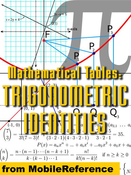 Mathematical Tables: Trigonometric Identities (Mobi Study Guides)