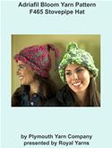 online magazine -  Adriafil Bloom Yarn Knitting Pattern F465 Stovepipe Hat