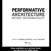 Peformative Architecture: