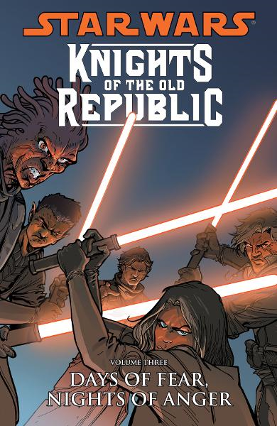 Star Wars: Knights of the Old Republic Volume 3--Days of Fear, Nights of Anger  By: John Jackson Miller, Brian Ching (Artist), Dustin Weaver (Artist), Harvey Tolibao (Artist), Colin Wilson (Cover Artist)