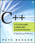 The C++ Standard Library Extensions: A Tutorial and Reference By: Pete Becker