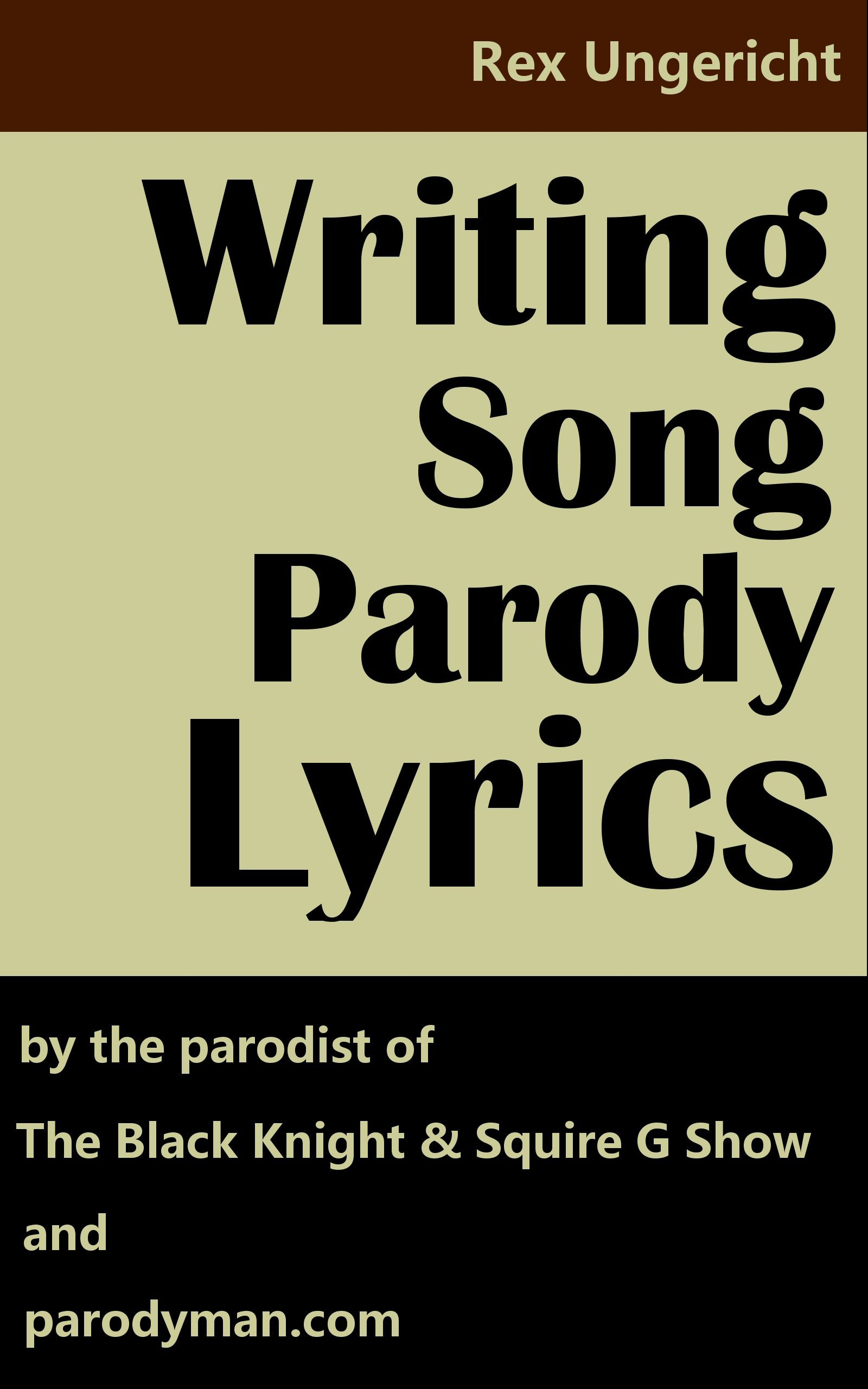 Writing Song Parody Lyrics