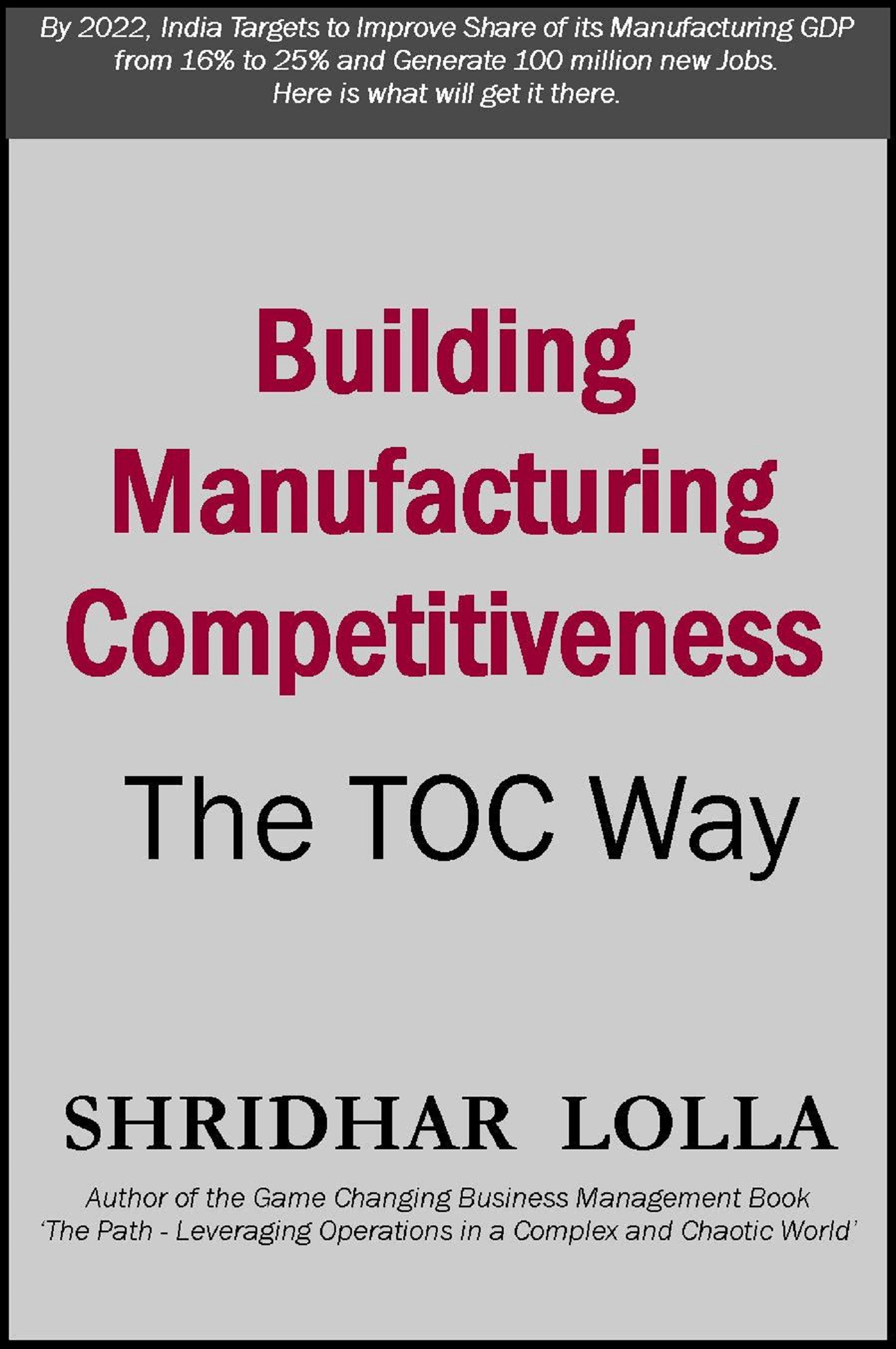 Building Manufacturing Competitiveness: The TOC Way