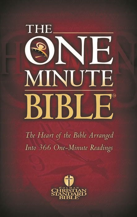 The HCSB One Minute Bible: The Heart of the Bible Arranged into 366 One-Minute Readings