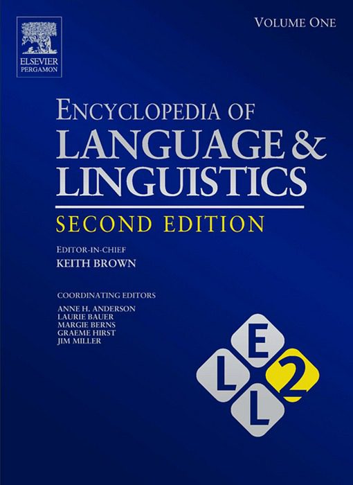 Encyclopedia of Language and Linguistics, 14-Volume Set By: Keith Brown