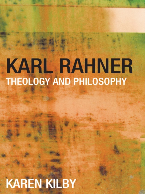 Karl Rahner Theology and Philosophy