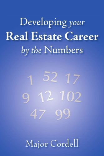 Developing your Real Estate Career by the Numbers By: Major Cordell