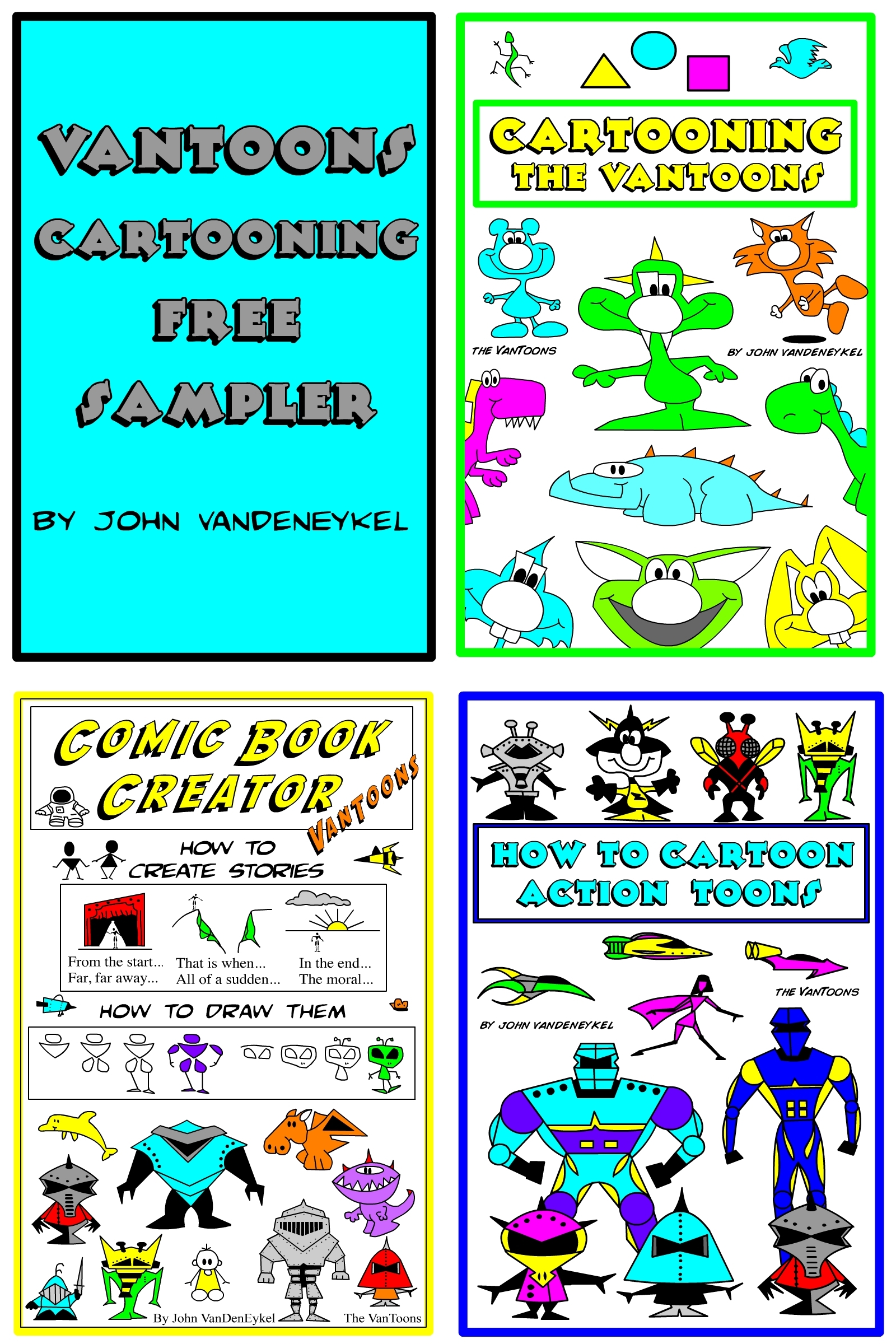 VanToons Cartooning Free Sampler