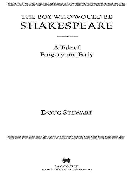 The Boy Who Would Be Shakespeare By: Doug Stewart