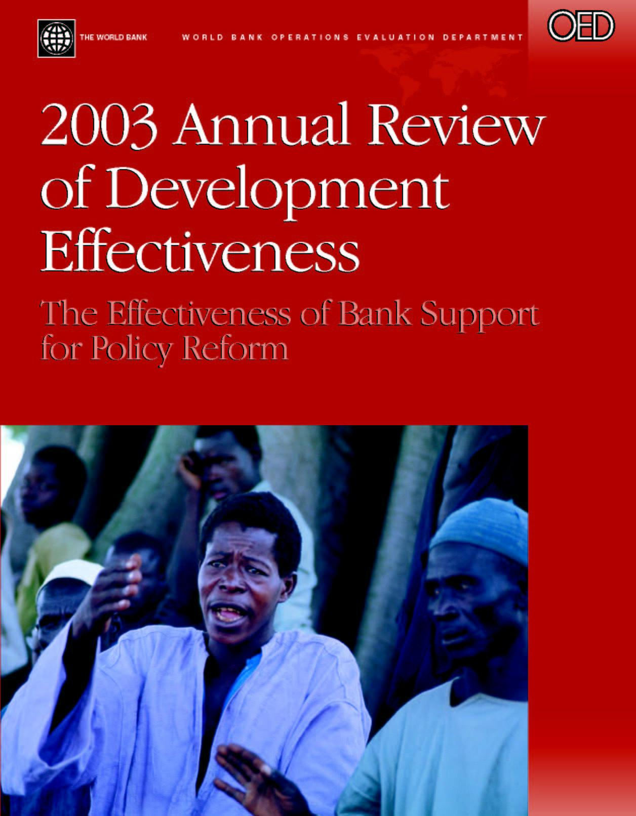evaluating the effectiveness of world bank'