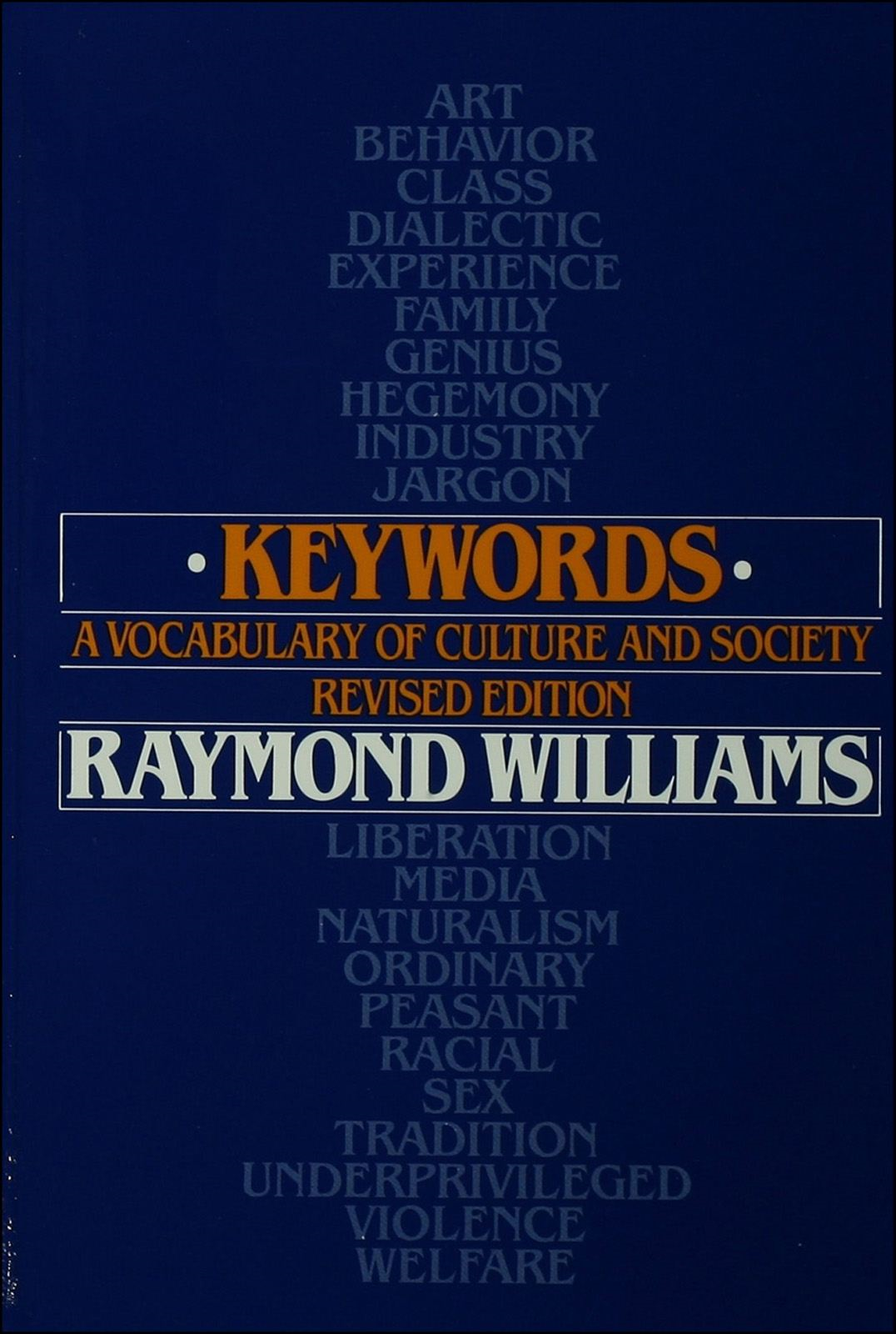 Keywords:A Vocabulary of Culture and Society