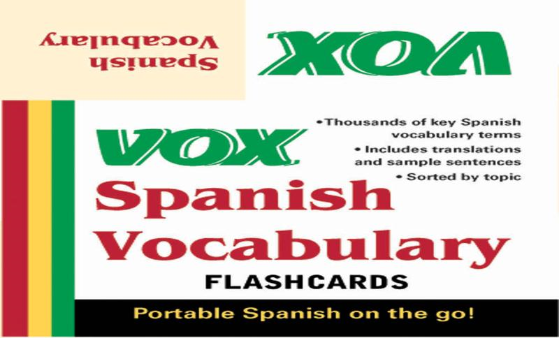 VOX Spanish Vocabulary Flashcards