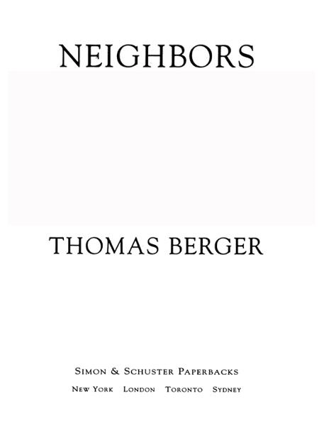 Neighbors By: Thomas Berger