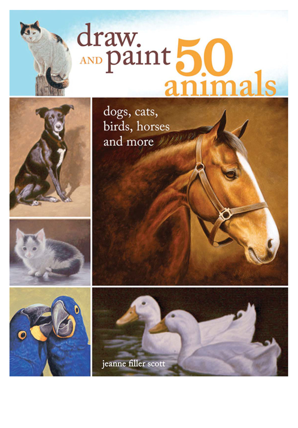 Draw and Paint 50 Animals Dogs,  Cats,  Birds,  Horses and More