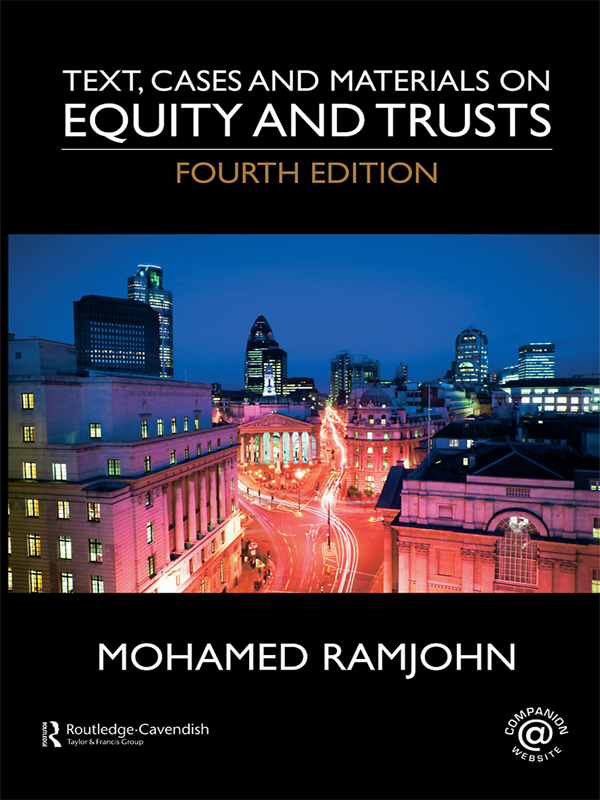 Text, Cases and Materials on Equity and Trusts 4/e