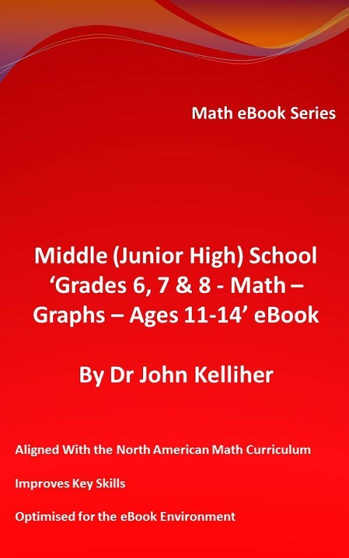 Middle (Junior High) School 'Grades 6, 7 & 8 - Math - Graphs – Ages 11-14' eBook By: Dr John Kelliher