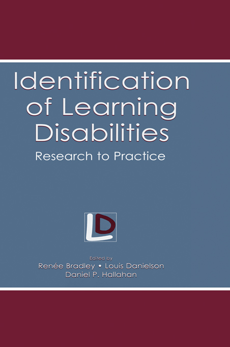 Identification of Learning Disabilities By: