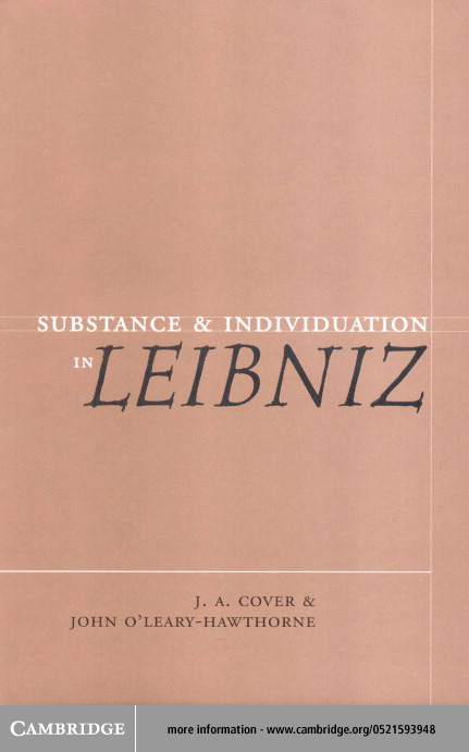 Substance and Individuation in Leibniz By: Cover, J. A.