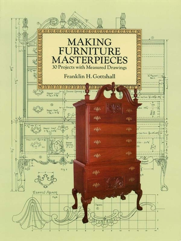 Making Furniture Masterpieces: 3 Projects with Measured Drawings By: Franklin H. Gottshall