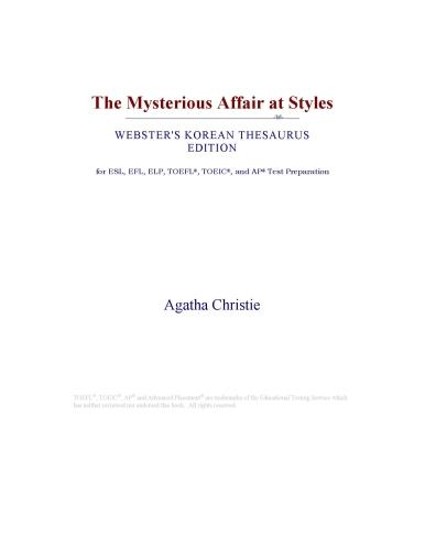 The Mysterious Affair at Styles (Webster's Korean Thesaurus Edition)