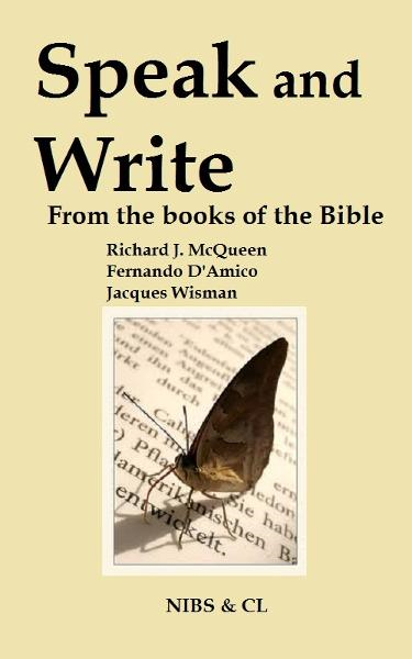 Speak and Write: From the books of the Bible