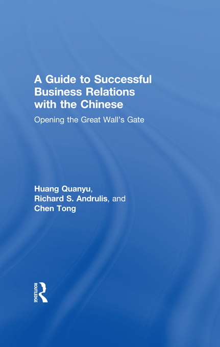 A Guide to Successful Business Relations With the Chinese