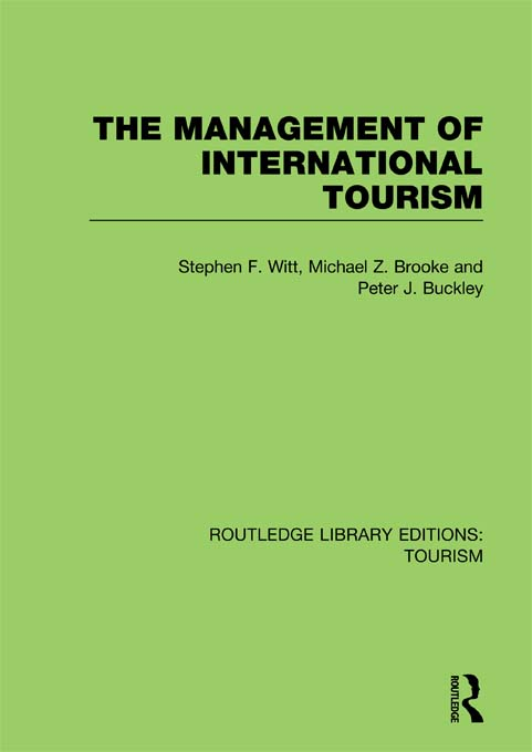 The Management of International Tourism