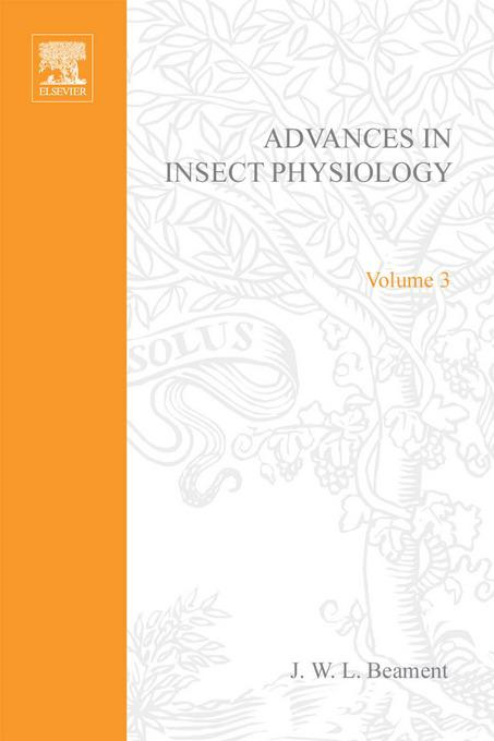 ADVANCES IN INSECT PHYSIOLOGY VOL 3 APL