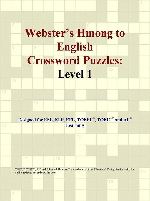 ICON Group International - Webster's Hmong to English Crossword Puzzles: Level 1