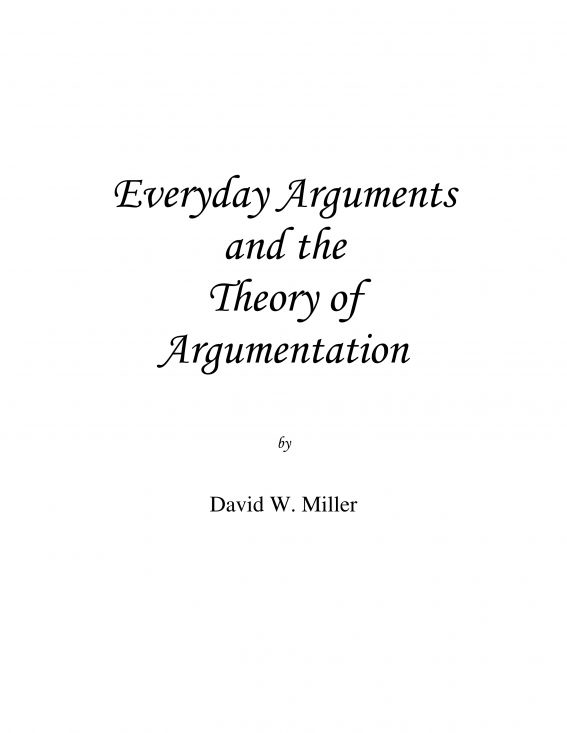 Everyday Arguments and the Theory of Argumentation