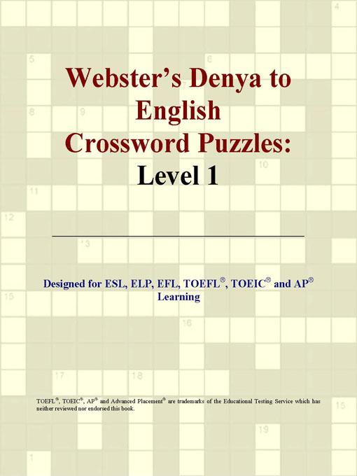 ICON Group International - Webster's Denya to English Crossword Puzzles: Level 1