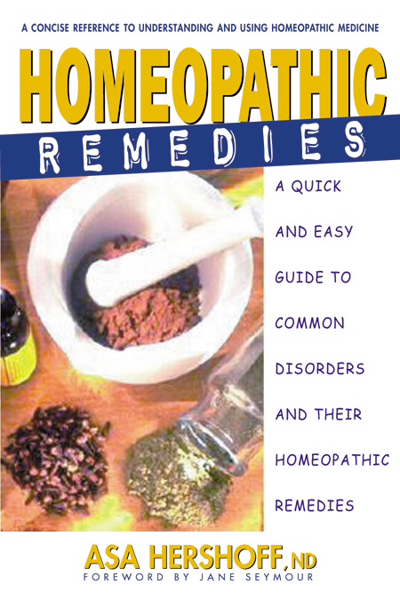 Homeopathic Remedies By: Asa Hershoff