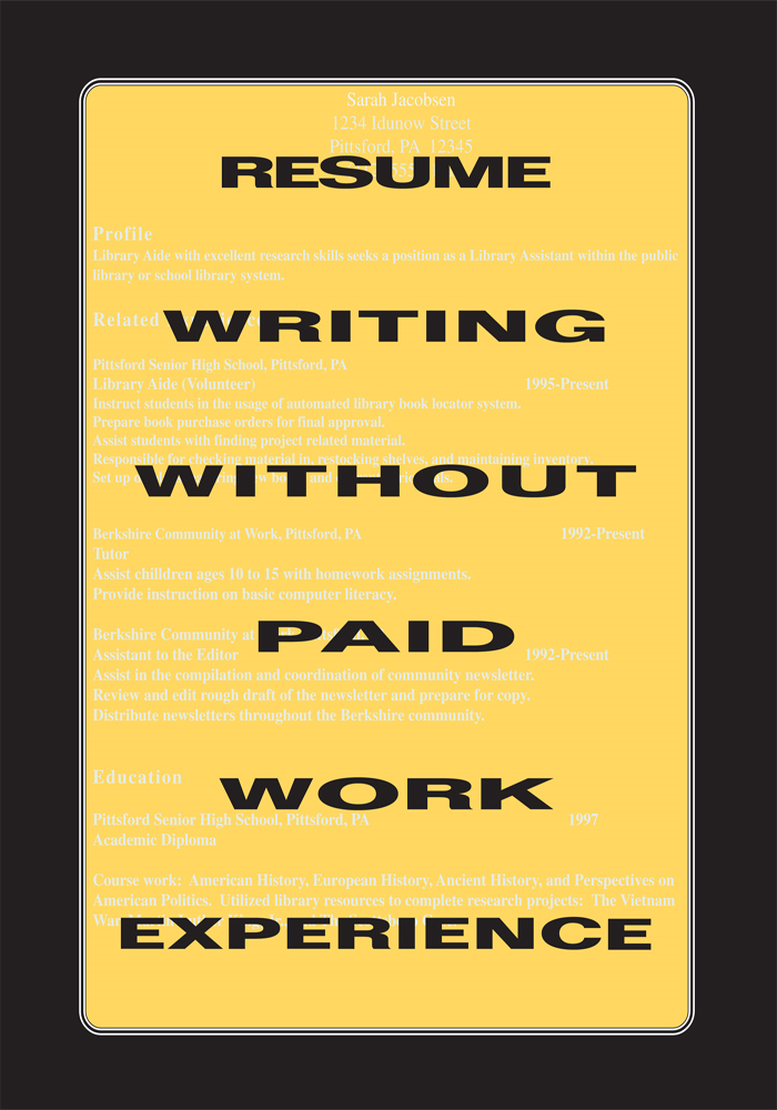 Resume Writing Without Paid Work Experience By: Harve L. Nichols and Walter Fortson