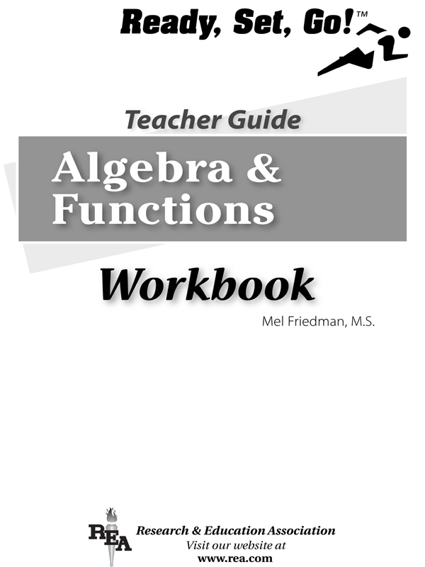 Algebra & Functions Workbook