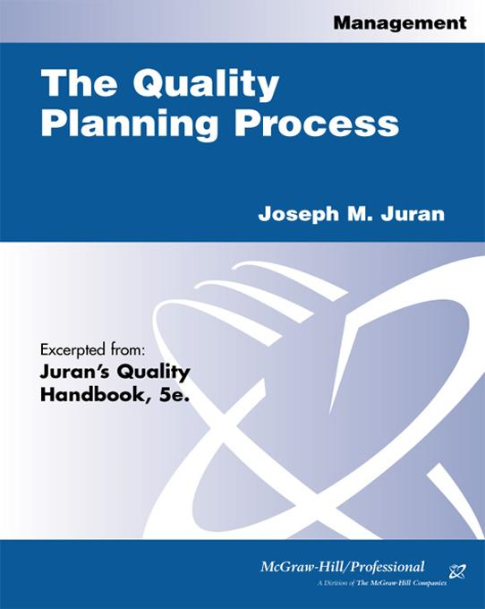 Quality Planning Process By: Juran, Joseph M