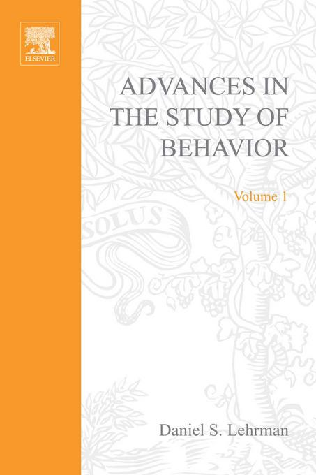ADVANCES IN THE STUDY OF BEHAVIOR VOL 1