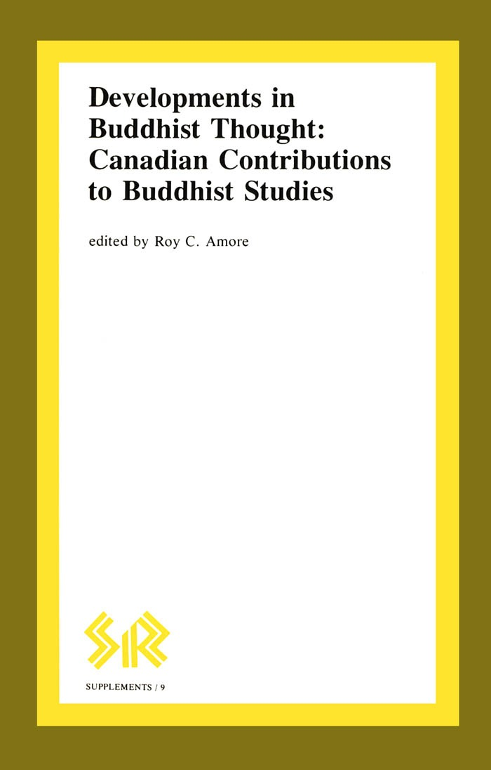 Developments in Buddhist Thought: Canadian Contributions to Buddhist Studies