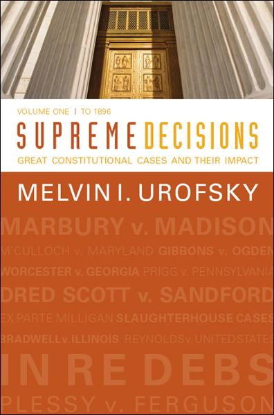 Supreme Decisions, Volume 1