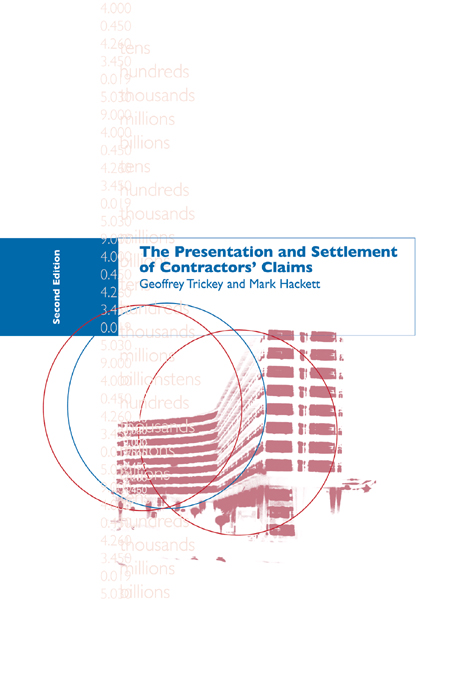 Presentation and Settlement of Contractors' Claims