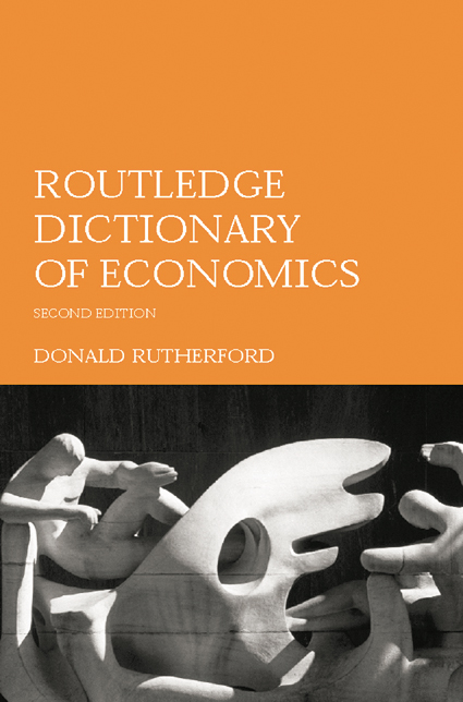 Routledge Dictionary of Economics