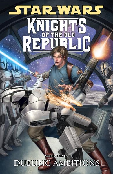 Star Wars: Knights of the Old Republic Volume 7 -- Dueling Ambitions By: John Jackson Miller, Brian Ching (penciller), Bong Dazo (penciller), Dean Zachary (penciller), Michael Atiyeh (colorist), Dan Scott (cover artist)