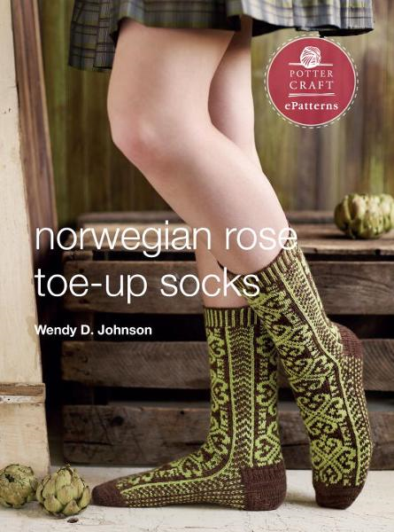 Norwegian Rose Socks By: Wendy D. Johnson