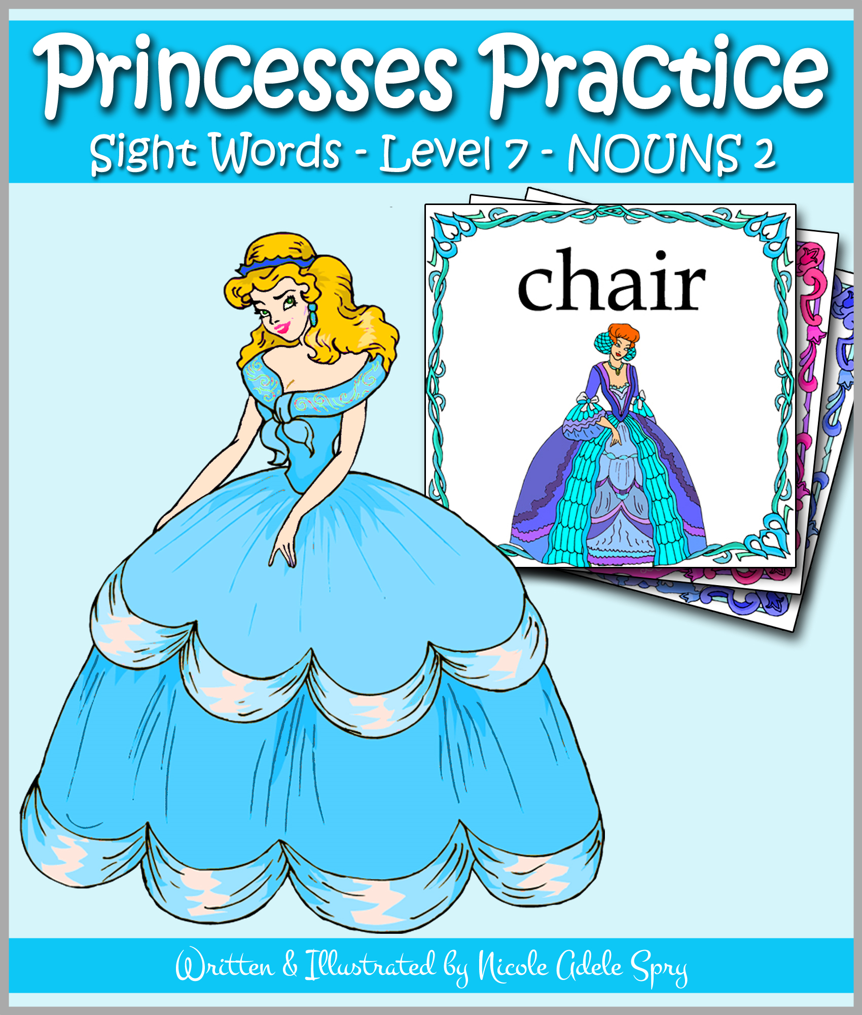 Princesses Practice Sight Words  - Level 7: NOUNS 2