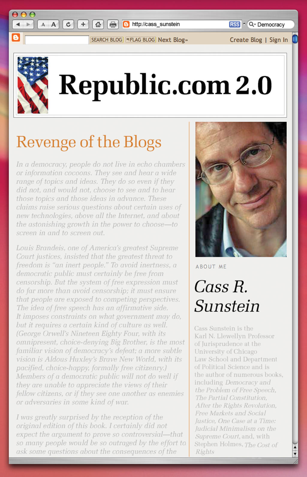 Republic.com 2.0 By: Cass R. Sunstein